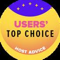 มอบให้กับบริษัทเว็บโฮสติ้งที่อยู่ใน 10 อันดับแรกที่ได้รับคะแนนจากผู้ใช้งานสูงสุด